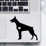 Doberman Dog Sticker - Laptop Decal