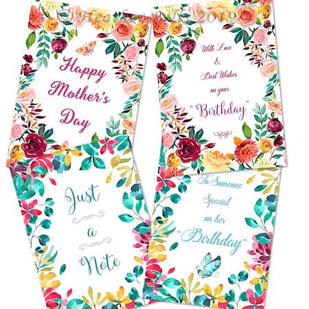 Watercolour Floral Frames Card Set