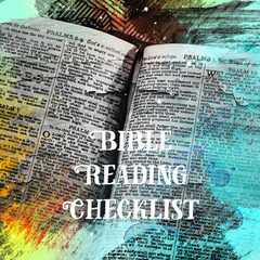 Bible Reading Checklist - for primary to secondary school aged kids