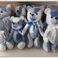Memory Bear, Mini Size,Keepsake Bear, Memorial Gift, Teddy Bear, Custom Made