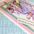 'Sending warm thoughts your way' Floral Birthday Card
