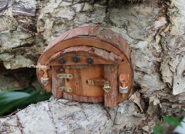 Rustic Forest Fairy Door | Fat Toad Signs on Madeit