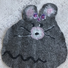 Hand Felted Cat Mat
