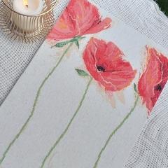 """Flamenco Poppies"" -Stretched Cross Stitch"