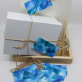 Hand painted Gift Tags - Pack of 10 - Abstract Blue