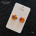 Safari Sunsets -  stud earring