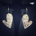 Sparkly heart earings