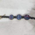 Leather Bracelet - Hues of Blue