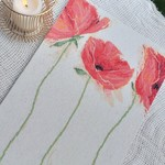 """Flamenco Poppies"" -Stretched Cross Stitch"