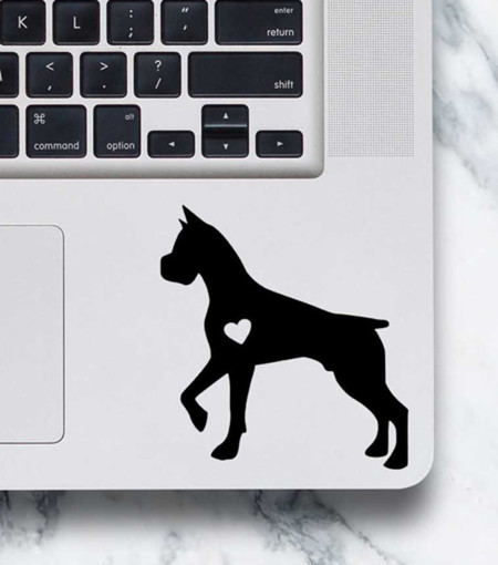 Boxer Sticker - Laptop Decal - Boxer design #2