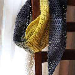 Serpent triangle crochet scarf