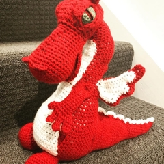 Fierce Plush Crocheted Dragon