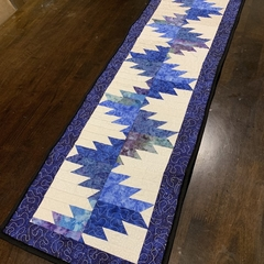 Quilted Delectable Mountain Table Runner