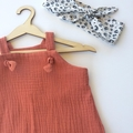 """Rust Muslin """"Knot Overall"""" you pick size (000-2-3)"""