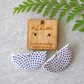 Porcelain Earrings ○ Handmade Sustainable Jewellery ○ Semi ○ Blue Dot