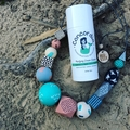 """The Red Essy """"SEA SALT hand-painted wooden necklace"""