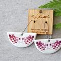 Porcelain Earrings ○ Handmade Sustainable Jewellery ○ Semi ○ Elderberry