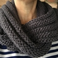 Knitted grey infinity scarf, grey cowl, grey mens scarf, ladies scarf, ladies