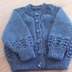 Babies Dark Grey Cardigan to fit 6 to 12 months.