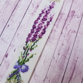 Handmade Embroidered Bookmark Lavender, Cross stitched lavender bookmark