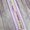 Handmade Embroidered Bookmark Lavender, Cross stitched Lavender bookmark