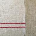 Dani. Vintage grain sack and mud cloth cushion cover 60cm x 35cm