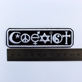 Iron on Co-exist Embroidered ad Iron on Patch or Badge
