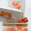 Hand painted Gift Tags - Pack of 10 - Warm Florals Abstract