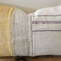 Gabi. Vintage grain sack and mud cloth cushion cover 60cm x 35cm