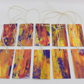 Hand painted Gift Tags - Pack of 10 - Purple Autumn Abstract