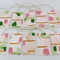 Hand painted Gift Tags - Pack of 10 - Pretty in Pink