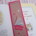 Handmade Embroidered Bookmark, Cross stitched bookmark, Gift for Reader