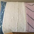 Kimani. Faded vintage African indigo and mud cloth cushion cover 60cm x 35cm