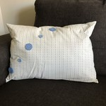 Spotty Cushion with Button Accents (inc insert)