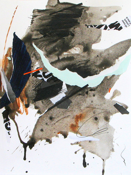 original collage, abstract art, art on paper, abstract collage, cloudburst,