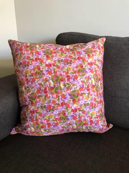 Bright Floral Cushion (inc insert)