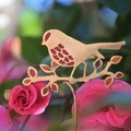 Red Robin with Autumn Leaves Garden Decoration