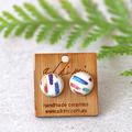 Rainbow Stripe ○ Ceramic Earrings ○ Handmade Sustainable Jewellery