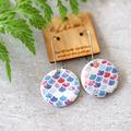 Mermaid ○ Porcelain Earrings ○ Handmade Sustainable Jewellery ○ Circle ○
