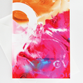 Art card, card, original design, imaginative, positive vibe, over pink ice,