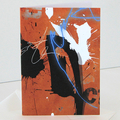 Art card, greeting card, arty design, abstract design, original style, sprout,
