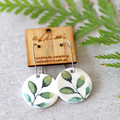 Leaf ○ Porcelain Earrings ○ Handmade Sustainable Jewellery ○ Circle ○