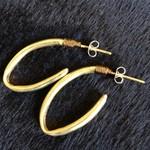 Brass tube earrings