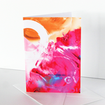 Art card, card, original design, imaginative, positive vibe, over pink ice,