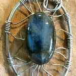 "Blue Labradorite in Sterling Silver ""tree"""