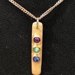 Traffic Lights Silver Pendant with Swarovski Crystals