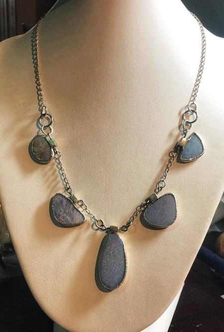 Australian Opal Silver Necklace