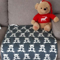 NAVY TEDDY - Toddler Change Mat