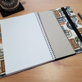 A5 Travellers Journal Cover with Elastic Closure