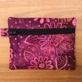 Purple Batik Coin Purse